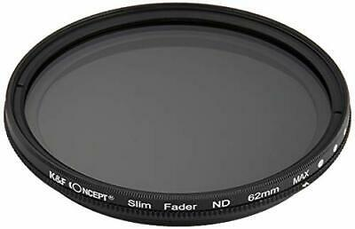 K F Concept ND filter KF-NDX62 variable 62 mm NDX dimming range ND2 ND4... JAPAN