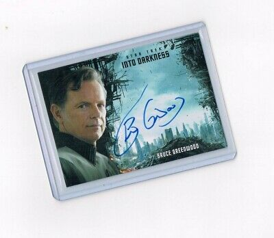 Star Trek Beyond Into Darkness Autograph Card Bruce Greenwood as Admiral Pike