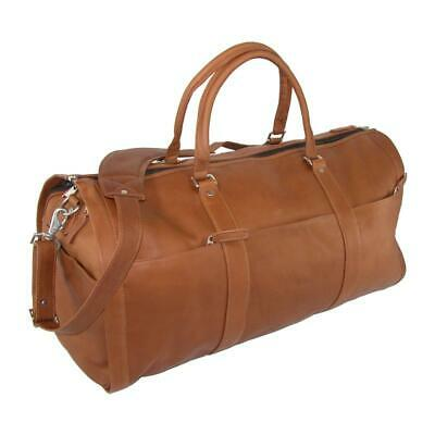 430575529b NEW LEATHER IMPRESSIONS Leather Convertible Duffle Bag to Garment ...