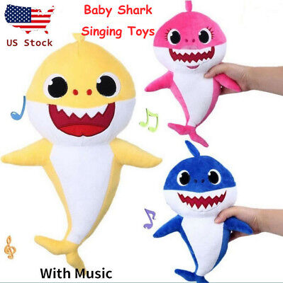 Baby Shark Plush Singing English Song Toy Cartoon Music Doll Musical Toy Gift