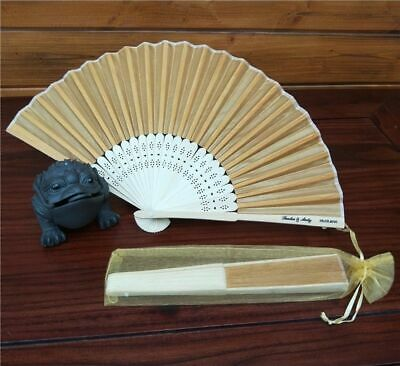 Folding Hand Fan Personalized Wedding Gifts Customized Favor Bag Print Funeral