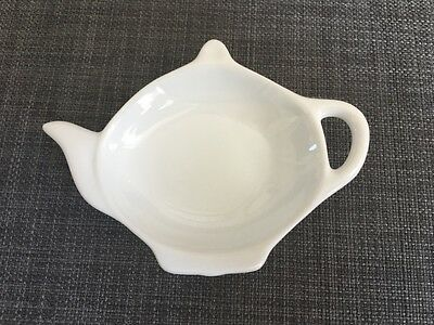 China Art Alexander's White Fine Porcelain Teapot Shape Tea Bag Catcher