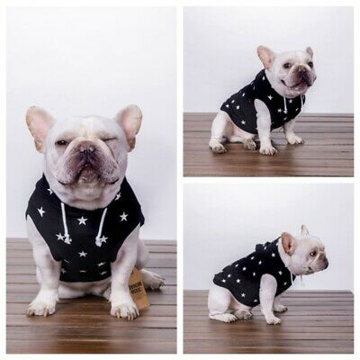 Pet Dog Puppy Winter Clothes Warm Soft Hoodie Fit Coat Jacket Outfit Sweater AU