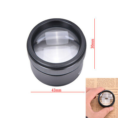 Portable 30x36mm Jeweler Loupes Magnifier Tool Glass Loop Pocket Microscope VQ