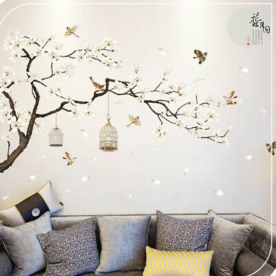 Removable 3d Tree Wall Art Stickers Vinyl Decal Mural Tv Background