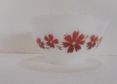 VINTAGE AGEE CAPE TULIP 7 inch 18 cm AUSTRALIAN MIXING BOWL PYREX  Red Maroon