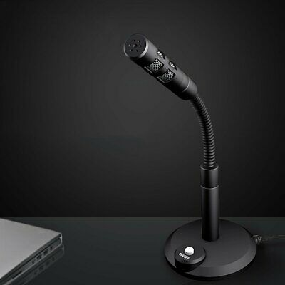 USB Condenser Studio Sound Recording Microphone Mic W/Stand For Office Meeting