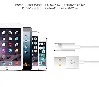 USB Chargers Data Lightening Cable Power Cord For Apple iPhone 5 S C 6 7 Plus N1