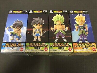 Movie Dragon Ball Super World Collectable Figure WCF Vol.3 2 1 BROLY 4 Sets