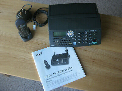 BT On-Air DECTf@x Plus Fax/Answering/Copying Machine with Phone Handset