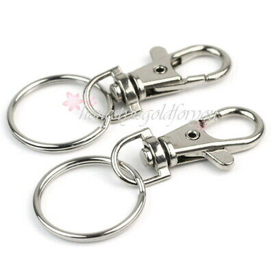 12PCS Bag Clasp Swivel Trigger Clips Snap Hook Lobster for Keyring Key Chain