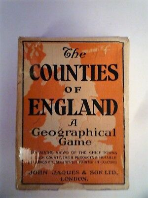 playing cards vintage Counties of England -Eastern