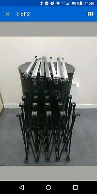 4x3 curved pop up exhibition display stand with case -used but in good condition