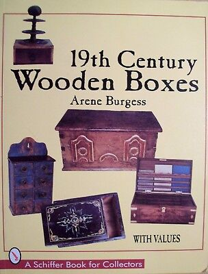 VINTAGE WOOD BOX PRICE GUIDE BOOK Jewelry Trinket Snuff Decorated Sewing ++
