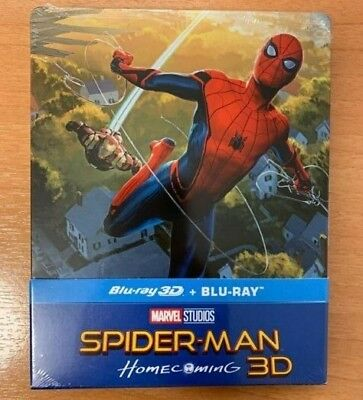 Spider-Man: Homecoming Steelbook Blu-Ray + 3D - New & Sealed