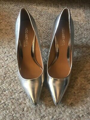 Dune Silver High Heels Size 8