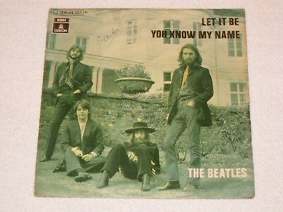 The Beatles Let It Be Spanish Original Issue 7""