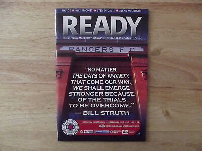 Rangers v Kilmarnock Scottish Premier League 18/02/12