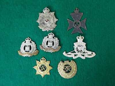 """OLD BRITISH MILITARY Badges All Damaged, """"Poor Condition"""
