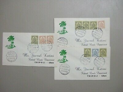 Three 1959 Libya fdc with different nominations