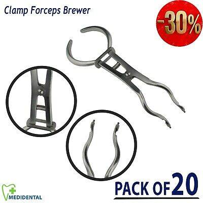 Ivory Clamp Forceps Brewer Rubber Dam Pinze Clamps pliers Gomma Diga pack of 20