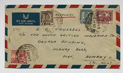 1949 Iraq Cover To Bombay India Baghdad Air Mail