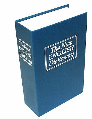 Secret Dictionary Book Safe Money Cash Security Box Lock Hidden Stash Keys