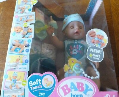 Baby Born - Soft Touch Boy - Interactive Function Doll - Suitable Ages 3+ Years