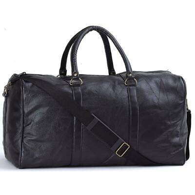 Bag Duffle Tote 21 Gym Genuine Leather Travel Luggage Large Hot Hand Sewn Pebble