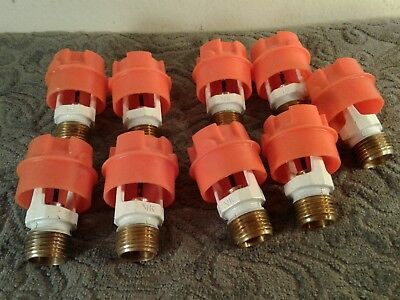 Lot of 9 / VIKING  VK302 BRASS White Color FIRE SPRINKLER, 1/2-INCH NPT 286F