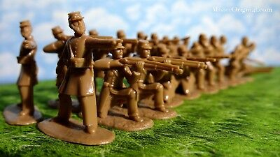 Armies in Plastic Civil War Confederate Infantry Butternut 1/32 Scale 54mm