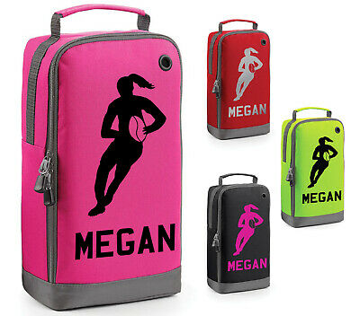 Personalised Girls Rugby Boot Bag Kids Sports Childrens Pe Kit School Gift