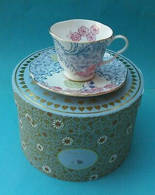 New Boxed Bone China Wedgwood Butterfly Bloom Cup And Saucer