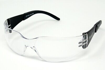 FOG3 Clear Motorcycle Anti-Fog Wraparound Glasses/UV400 Biker Sunglasses + Pouch