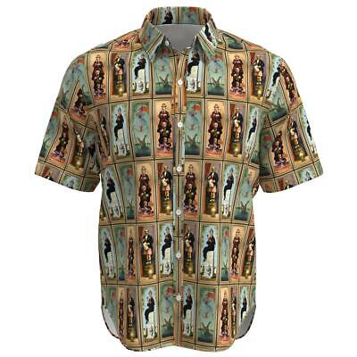 Haunted Mansion Stretch Paintings Disney Inspired Men Button Shirt XS-3XL