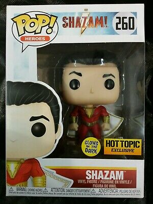 Funko Pop DC SHAZAM Glow In The Dark Hot Topic Exclusive IN HAND READY TO SHIP