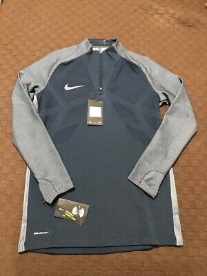 ed3e5ff3d NIKE Strike Aeroswift 1/4 Zip Blue Soccer Football Shirt Pullover Mens Size  M