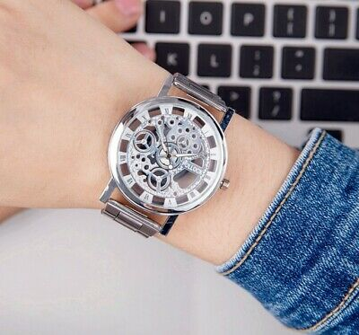 2018 New Gold Watches Luxury Brand Men's Fashion Hollow Out Watch High Qualit...