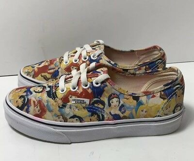 d71ee470b0 Vans Disney Multi Princesses Print RARE Women s size 6 NEAR MINT AWESOME