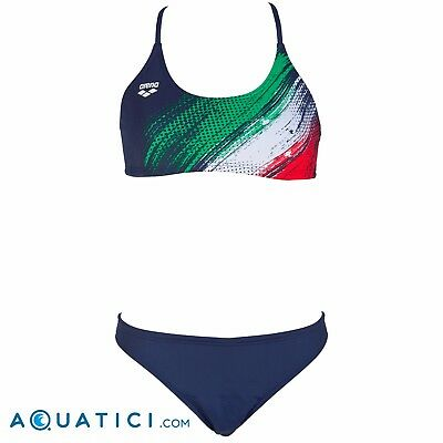 f7e2c3bb8d22 ARENA ITALY WOMAN SWIMSUIT TWO PIECES Costume donna ITALIA NUOTO FIN 2 PEZZI