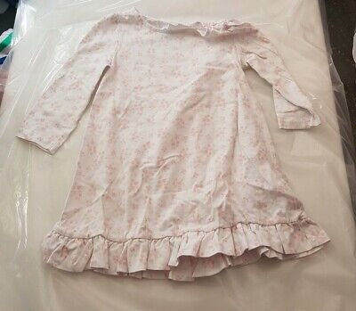 Little White Company white ditsy pink floral nightdress age 18-24 months
