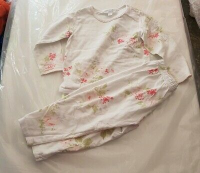 Little White Company white floral pyjamas age 18-24 months