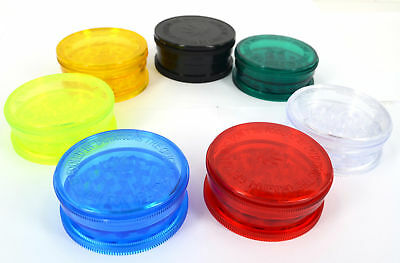 60mm Grinder Plastic 3 Part No1 Herb Shark Teeth Tobacco Storage Magnetic