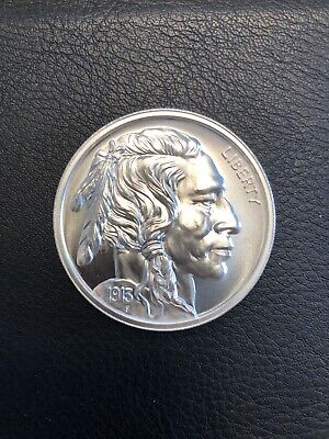 2 Troy oz. .999 Silver Big Nickel Indian head, Buffalo round