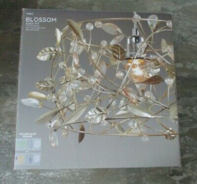 🎀 Next 🎀 Blossom 🎀 Easy Fit Soft Gold And Beaded 🎀 Pendant Light Shade 🎀