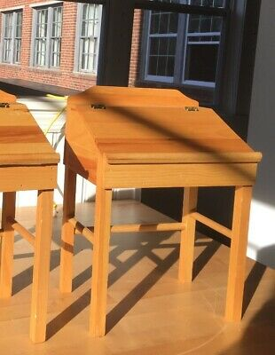 Small Drafting Table W/Flip Top & Drawer Use For Dolls Or Storage  Made In USA