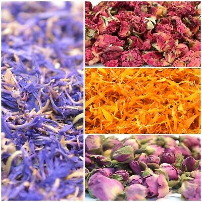 15g - Dried Petals & Dry Flowers 51+ Types! Tea Confetti Soap Craft Candle Decor