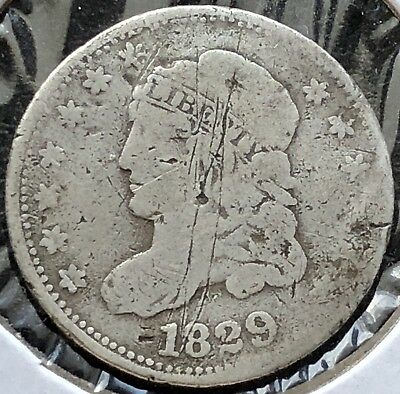 1829 Capped Bust Half Dime 5c Circulated #11147