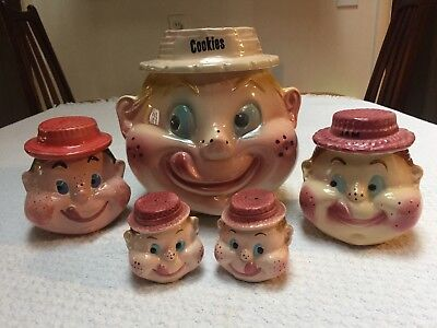 American Bisque Freckled Face Jam Girl Cookie Jar