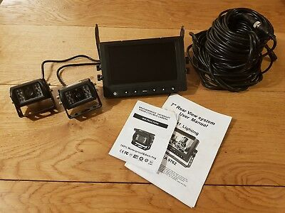 """7"""" Reversing Waterproof Camera Kit with extra Camera/Cables"""